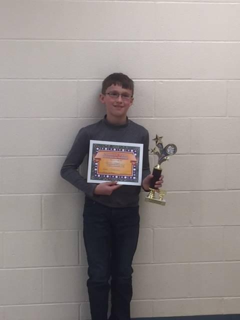 7th Grade Science Fair Award Winner