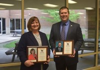 Denise Neal White and Adam K Hill, new inductees.